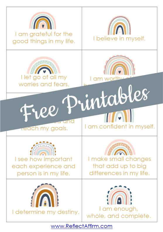 Unlock your true potential and achieve your goals with a little help from this FREE printable affirmation cards PDF.