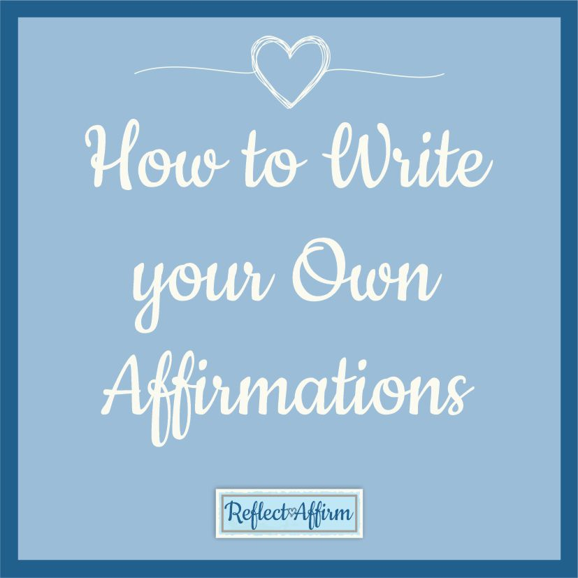 We have plenty of affirmations to help you get started here but perhaps you would like to learn how to make your own affirmations.